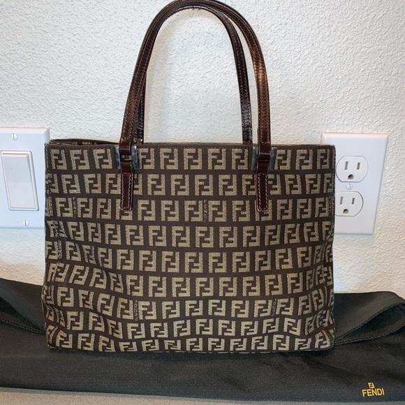 fe0fbdbbff Authentic fendi zucca mini tote satchel shopper